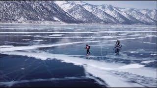 «Ледовый шторм»: 200 километров на велосипедах и лыжах по замёрзшему Байкалу