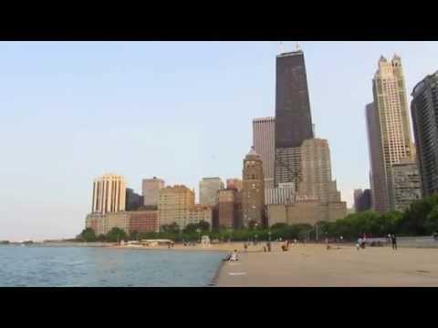 Oak Street Beach in Chicago, Illinois
