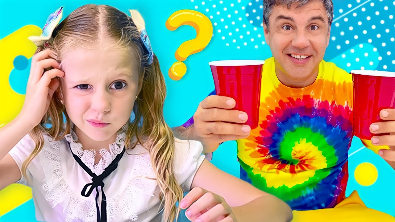 Papai ensina a Nastya cinco sentidos humanos