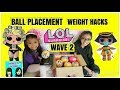 L.O.L SURPRISE DOLLS CONFETTI POP SERIES 3 WAVE 2 WEIGHT HACKS & BALL PLACEMENT OPENING #COLLECTLOL