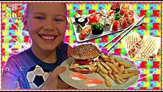 VLOG  50000 ПОДПИСЧИКОВ 🍣 СУШИ 🍕ПИЦЦА 🍔 Гамбургер Своя компания Уфа💥  Kids Fun Party RUSSIA
