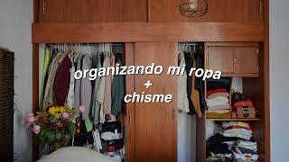 acompañame a organizar mi closet porque si