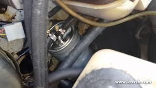 Установка дополнительного топливного фильтра и индикатора давления подкачки на Газ 560 Steyr