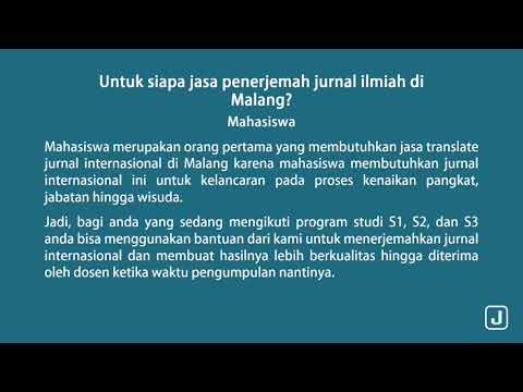 Jasa Translate Jurnal Internasional Malang Youtube