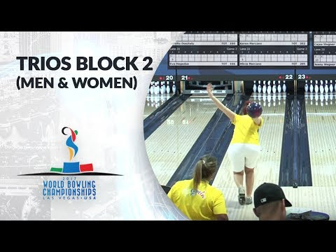 Trios Block 2 Squad 3 (Men and Women) - World Bowling Championships 2017