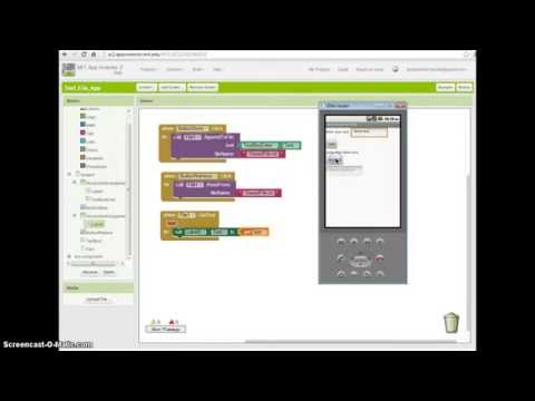 App Inventor 2 Tutorial - How to create and store text files on your phone