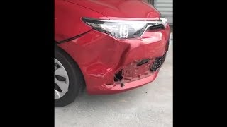 Bumper Dent and Paint Repair