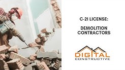 Get Your C-21 License Fast! - Demolition Contractor's Step By Step Roadmap to Navigating The CSLB