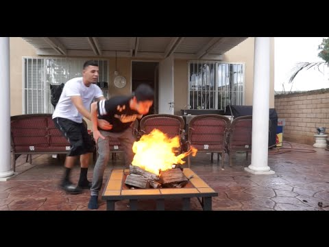 INSANE BURNING YEEZYS PRANK!! (ON FAZE RUG)