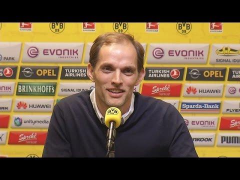 Pressekonferenz: Thomas Tuchel mit Hans-Joachim Watzke und Michael Zorc