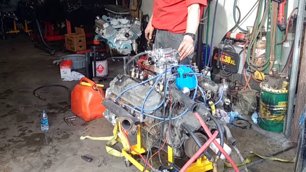 Big Block Ford Running On Engine Stand Youtube To Start Wiring