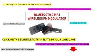 Vídeo Tutorial MODULADOR SEM FIO BLUETOOTH - MP3   RADIO / BT & MP3 Wireless FM Modulator