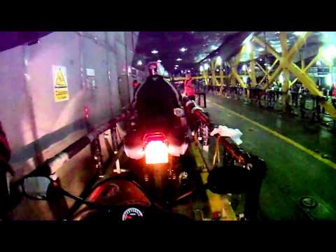 Bmw Gs1200 Falls over on the ferry to the Isle of Man