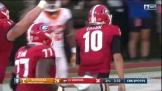Riley Ridley TD with 19 seconds Left Against Tennessee!