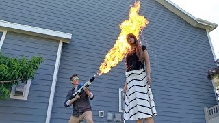 Things You Shouldn't Do With a Flamethrower!