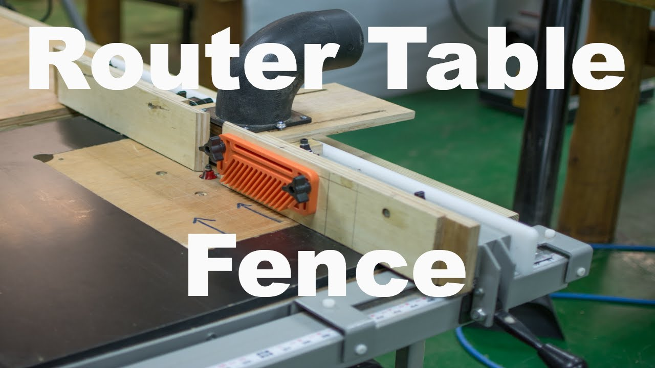 Router Table Fence Diy With Dust Collection Pt 1 Youtube