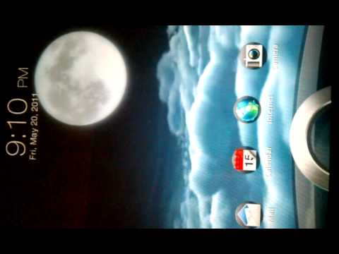 Htc sense 3.0 weather live wallpaper - YouTube