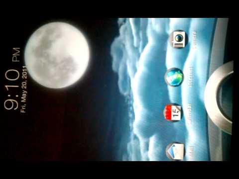 Htc sense 3.0 weather live wallpaper - YouTube