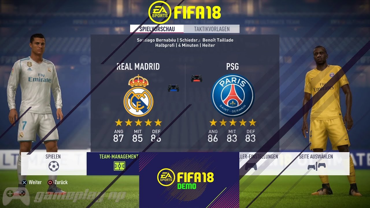 fifa 18 demo real madrid vs psg gameplay ultra hd. Black Bedroom Furniture Sets. Home Design Ideas