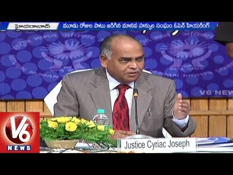 NHRC Open Hearing | Three day programme to resolve issues - Hyderabad(25-04-2015)