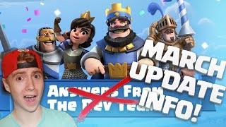 MARCH UPDATE NEWS! CLAN WARS + Tournament Changes? | Clash Royale