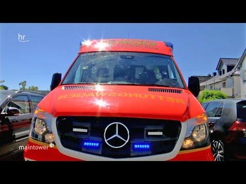 Darmstadt: Im Einsatz mit dem Rettungswagen