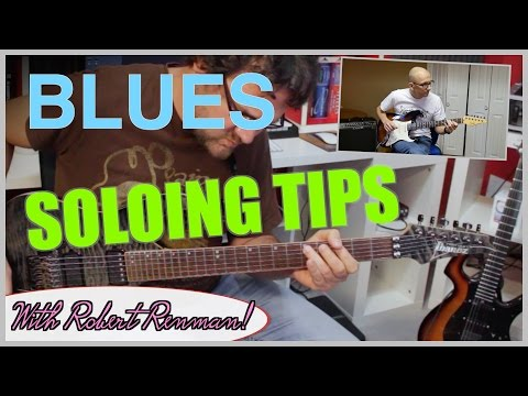 Blues Guitar Solo Lesson - Jam with David Wallimann and Robert Renman