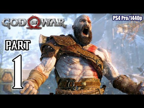 GOD OF WAR Walkthrough PART 1 (PS4 Pro) No Commentary Gameplay @ 1440p ✔