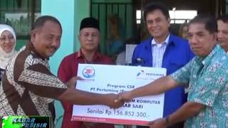 PT.Pertamina RU II Memberikan Bantuan CSR Kepada SMKN 5 Kota Dumai