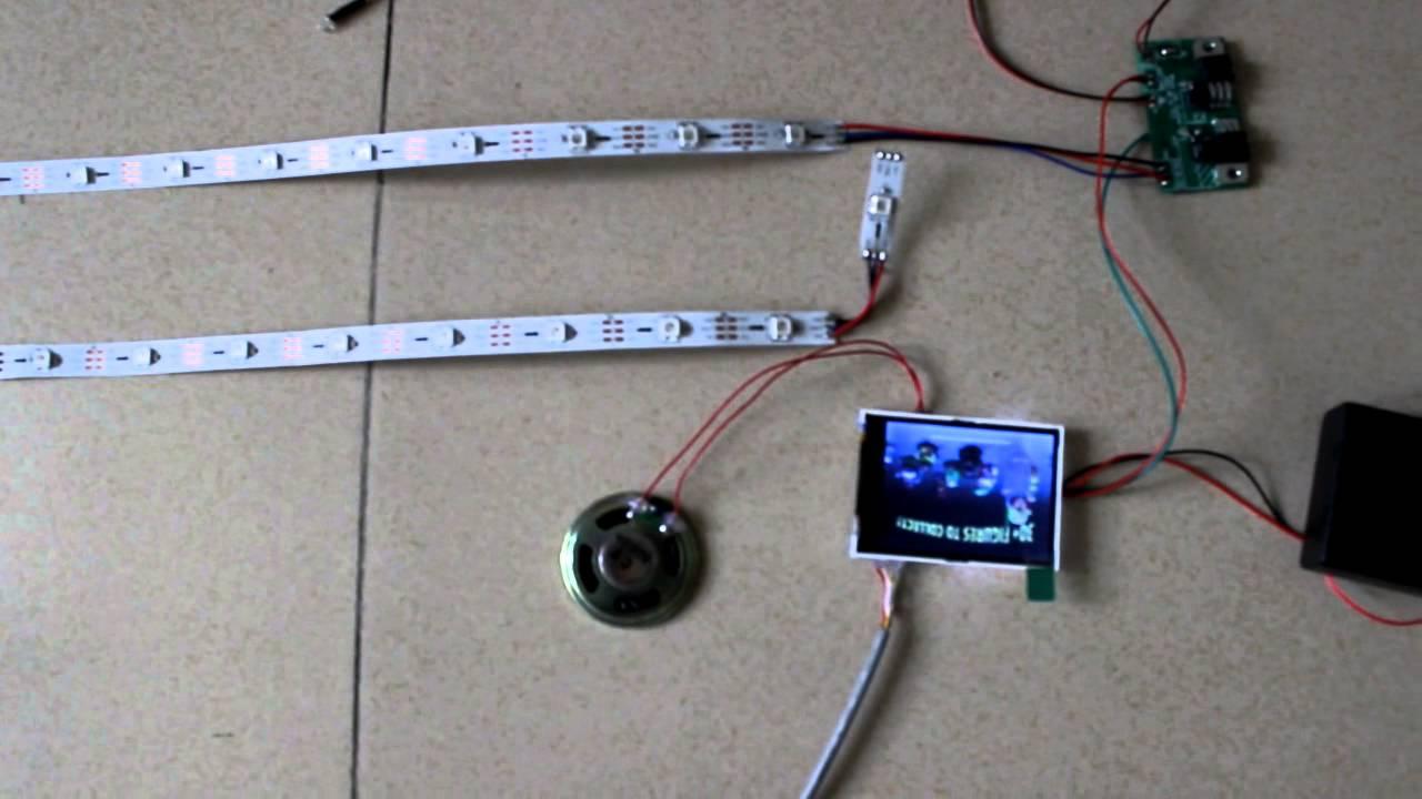 Custom Motion Sensor Flexible Led Strip Light Video Module For Advertising New Product Promotion You