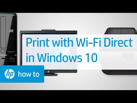 Print from Windows 10 Using Wi-Fi Direct | HP Printers | HP