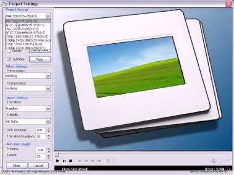 DVD slideshow GUI Tutorial - Photoshow with freeware