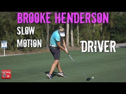 BROOKE HENDERSON 120fps OFFSET DRIVER SLOW MOTION GOLF SWING 1080 HD