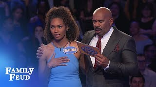 Bayleigh GETS IT DONE for the Daytons! | Family Feud