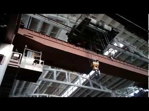самый необычный 50т кран нашего завода. вид изнутри