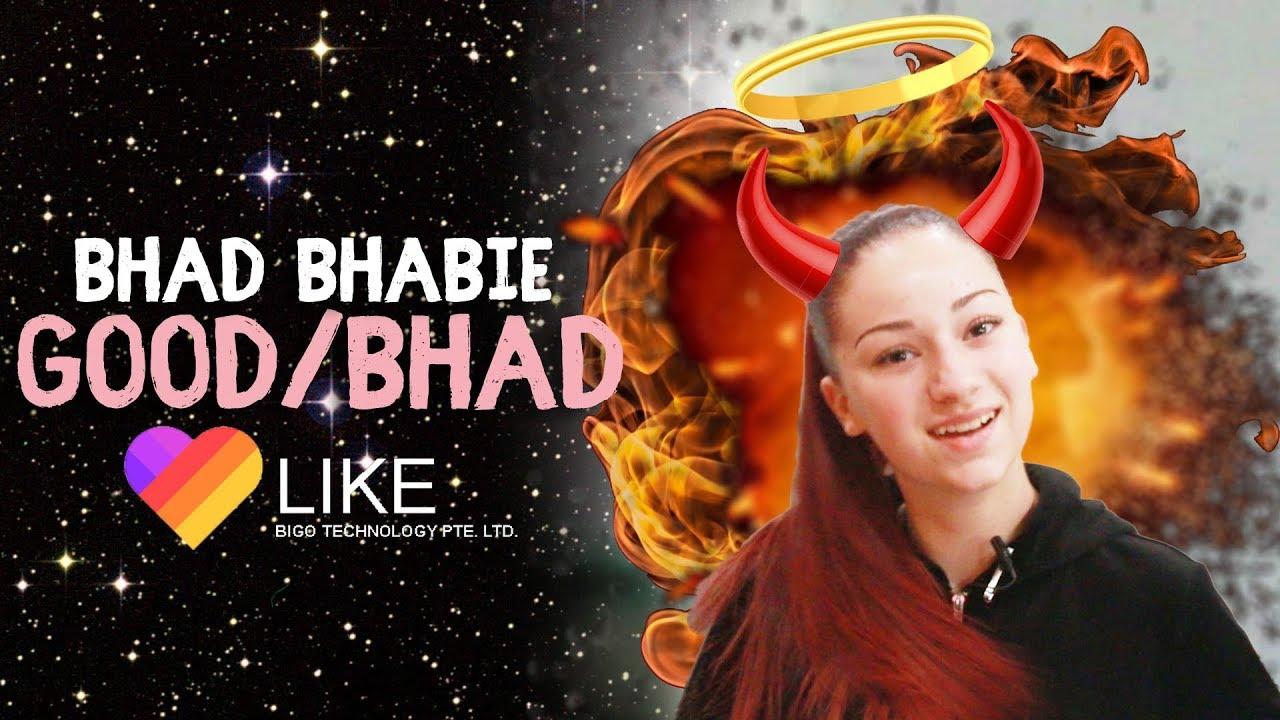 Danielle Bregoli is BHAD BHABIE reacts and roasts LIKE app vids