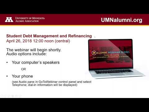 Student Debt Management and Refinancing