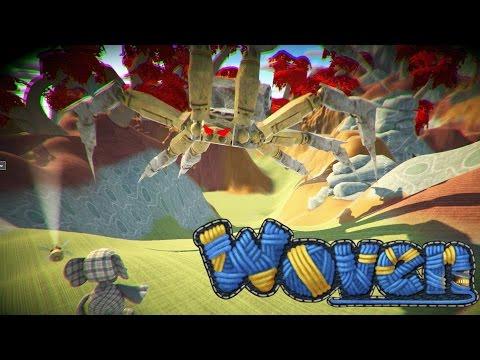 Woven the game gameplay: Got passed the snake & huge spider!  (Pre Alpha) Kickstarter