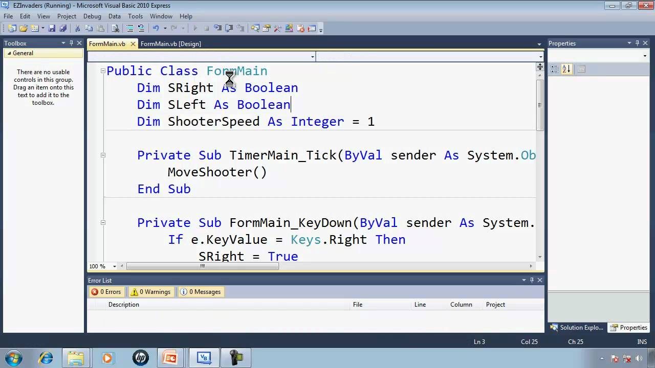 Visual Basic Express 2010 Tutorial 34 - Programming the