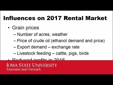 2016 Iowa Farmland Leasing - Estimating  A Rental Rate