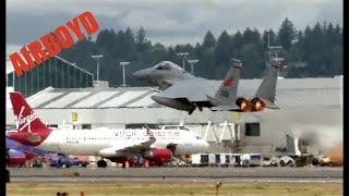 Portland OR ANG F-15 Takeoff - 142nd FW - Col Pirak