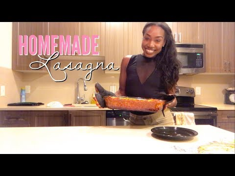 HOMEMADE LASAGNA!!!   IN THE KITCHEN WITH REESE!