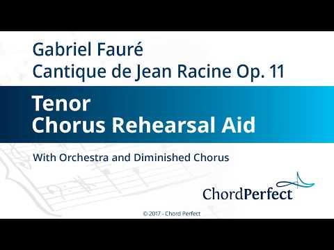 Fauré's Cantique de Jean Racine - Tenor Chorus Rehearsal Aid
