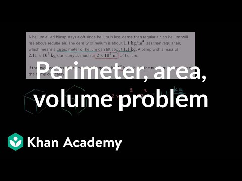 How many people can a blimp carry | Perimeter, area, and volume | Geometry | Khan Academy