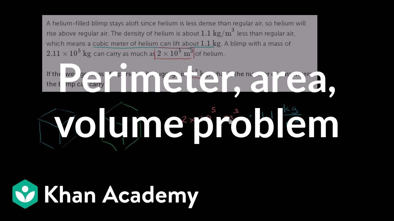 hight resolution of Density word problem: blimp (video)   Khan Academy