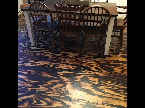 DIY Wood Flooring Torched Plywood Floor