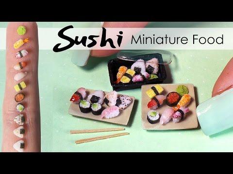 http://www.sugarcharmshop.dk Miniature Sushi Tutorial // DIY Miniature Food