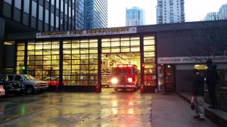 Chicago Fire Engine 13 Responding from Quarters