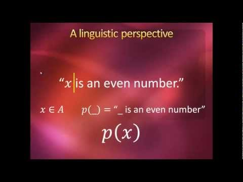 Introduction to Higher Mathematics - Lecture 6:  Predicate Logic