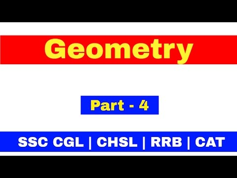 Geometry For SSC CGL | CHSL | CAT | RRB [ In Hindi] Pat - 4